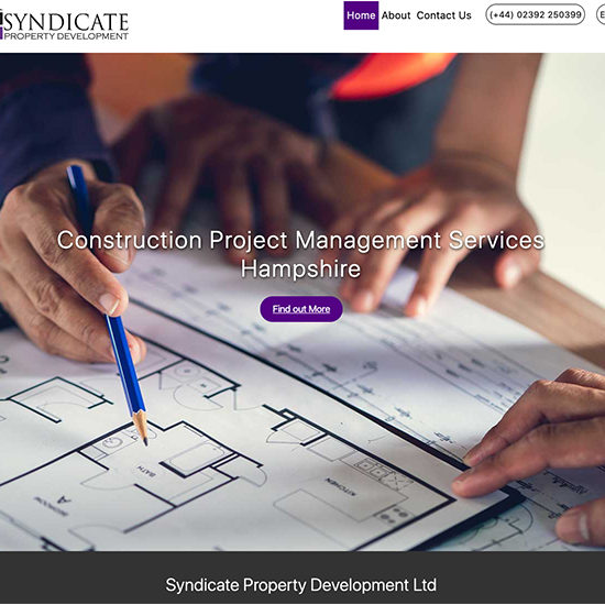 an image of the new Syndicate Property Development website
